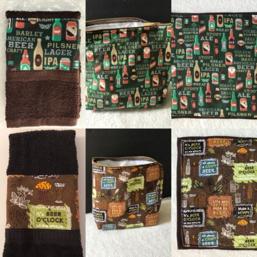 Craft Beer Brewer-hand towel, pot holder, insulated tote-playoff game host gift