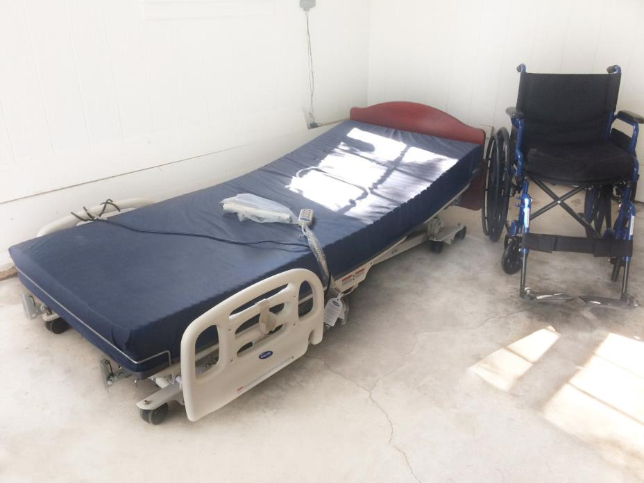 Invacare C7 Hospital Bed with mattress + wheel chair