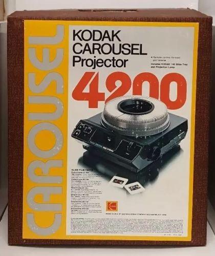 Kodak Carousel 4200 Projector Tray 1983 Original Box Manual USA Vintage 80s Film