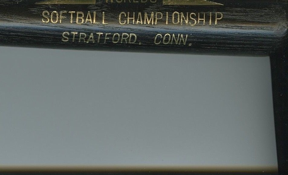 1950s WORLDS SOFTBALL CHAMPIONSHIP Stratford, CT - LOUISVILLE SLUGGER Mini Bat