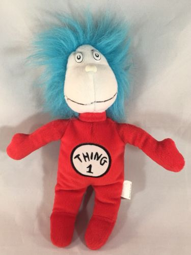 Kohl's Cares Thing 1 Dr. Seuss Cat In The Hat Official Movie Bean Stuffed Animal