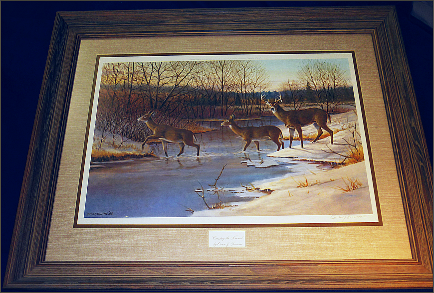 Crossing The Neenah - Owen Gromme - Print: Framed, Signed And Numbered