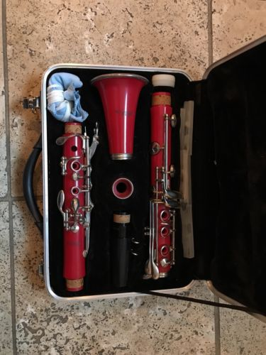 Professional Red School Band Clarinet Student Beginner w/ Case