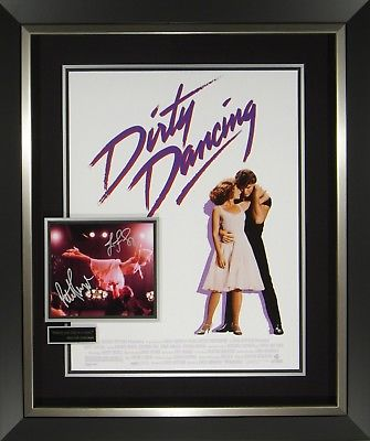 Dirty Dancing Signed Movie Poster Display Framed Patrick Swayze Jennifer Grey