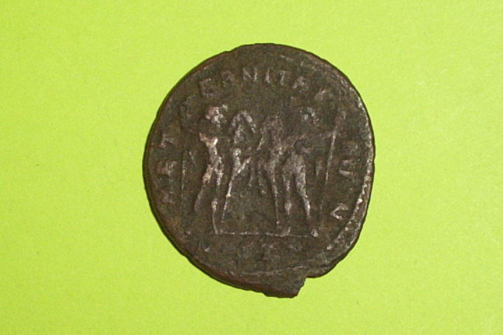 Ancient ROMAN COIN dioscuri twins MAXENTIUS 306 AD-312 AD horses large follis ae
