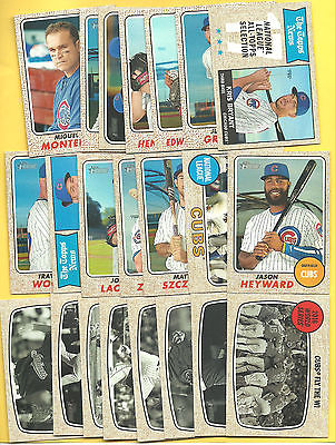 2017 Topps Heritage Baseball Set Singles Stars Lot (20) You Pick Choose Choice