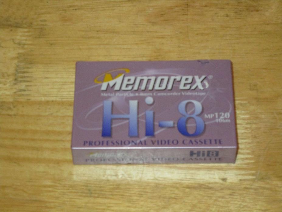 Memorex Hi-8 8mm Camcorder Professional Videotape Cassette MP120 Metal Particle