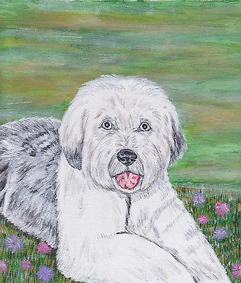8x10 custom pet portrait painting dog cat rabbit bird horse lizard ferret art
