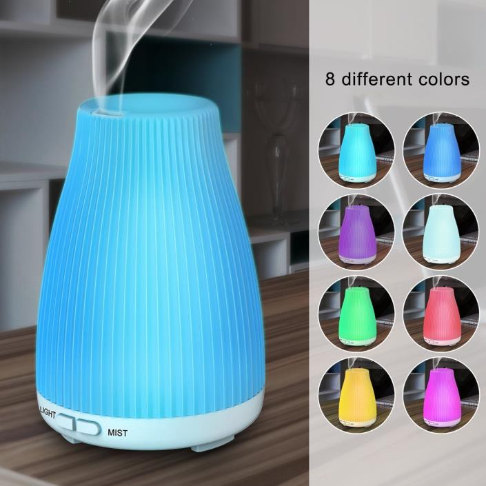 BAXIA TECHNOLOGY 100ml Cool Mist Diffuser Portable Ultrasonic Aroma Diffusers fo