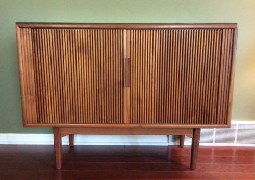 Mid Century Kipp Stewart Drexel Motorola TV Cabinet Console Credenza