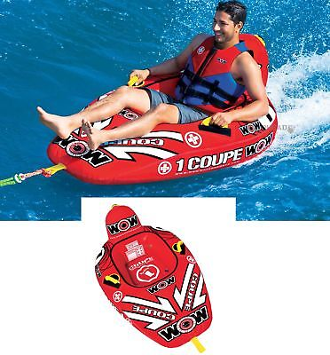 Wow 15-1020 1 Person Rider Coupe Cockpit Water Tube Inflatable Towable Boat Toy
