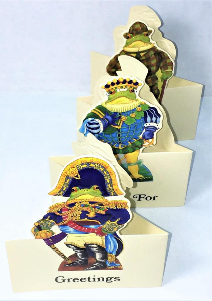 FROG IN VICTORIAN COSTUMES ACCORDION FOLD OUT CARD Mint /Sealed RARE! Merrimack