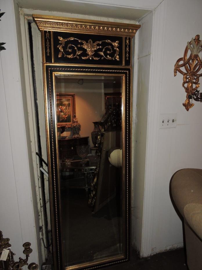 Italian Pier Mirror - Hand Carved & Gold Leaf Wood