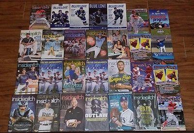 HUGE Baseball HOCKEY Basketball FOOTBALL Programs AUTO Schedules Memorabilia LOT