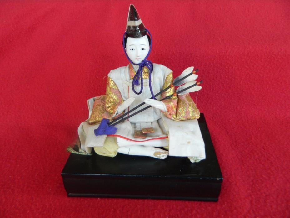 Antique Japanese Hinamatsuri Placement Doll Samurai No.2 Good