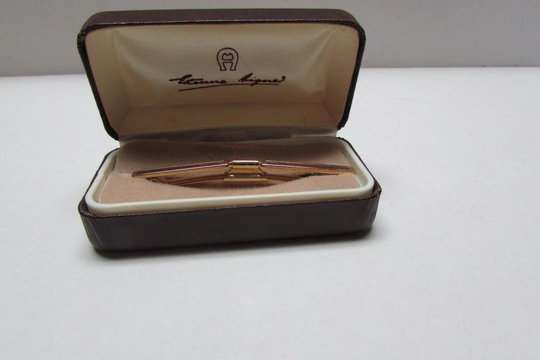 Vintage Etienne Aiger Tie Tack Clip Bar In Original Box