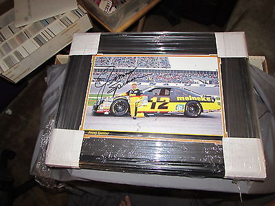 Jimmy Spencer autographed magazine photo #12 Nascar matted & Framed 17x22 JSA