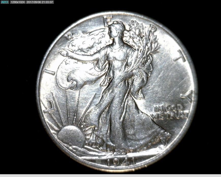 1941 D Silver Walking Liberty Half Dollar #A269