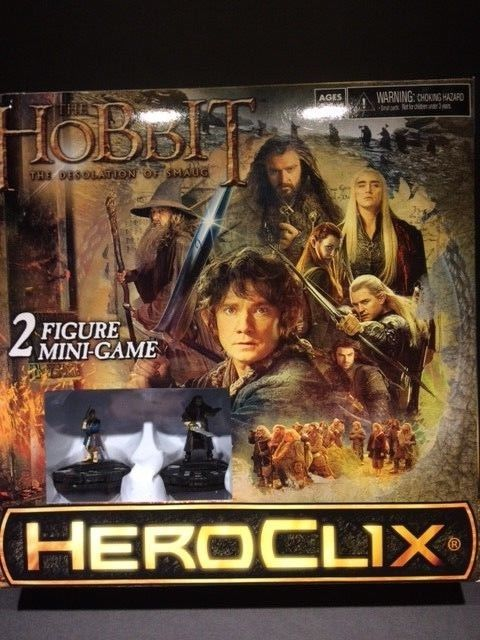 Heroclix The Hobbit The Desolation of Smaug 2-figure Minigame Hero Click Wizkids