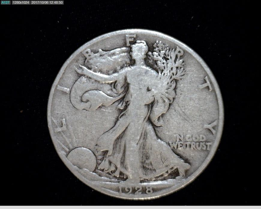 1928 S Silver Walking Liberty Half Dollar #A551