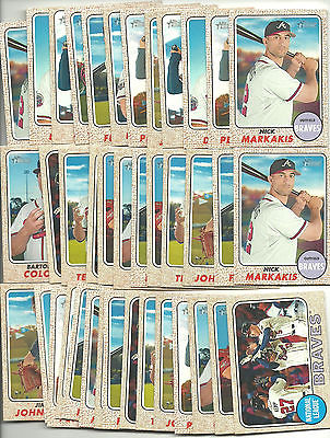 2017 Topps Heritage Atlanta Braves Team Lot (40) Assorted Stars Great 4 Auto's
