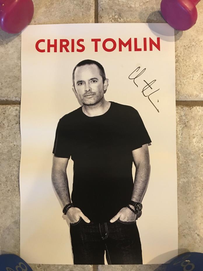 **Signed**Chris Tomlin Mini Poster