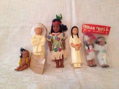 1940'S-50'S Vintage Indian Dolls