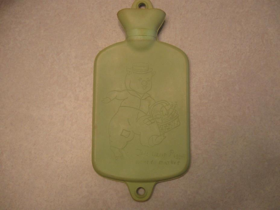 Antique Childs Green Hot Water Bottle Bed Warmer