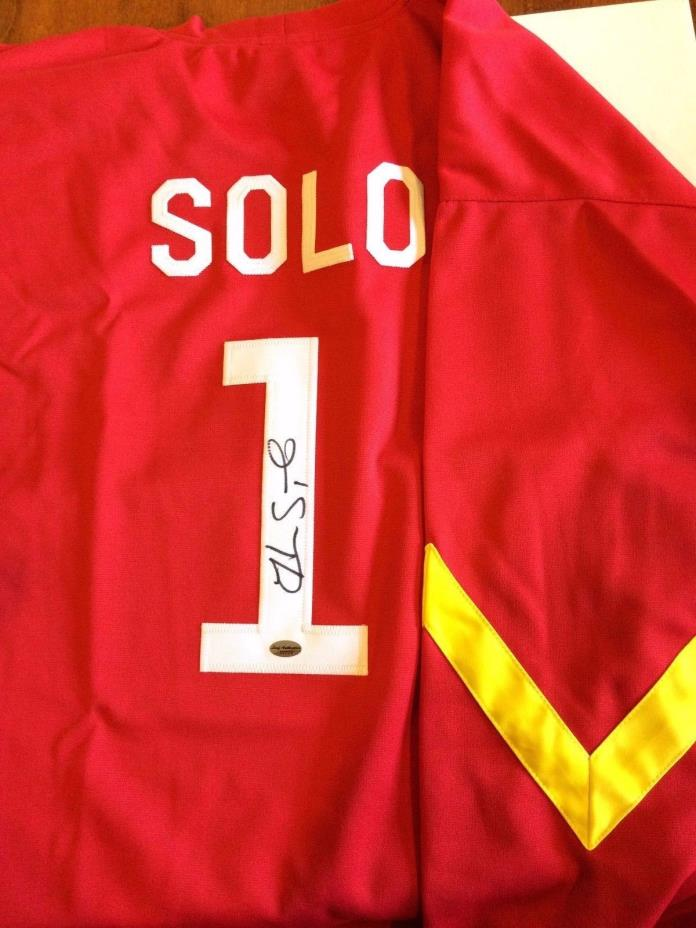 HOPE SOLO Signed Auto Jersey TEAM USA Soccer WOMEN'S WORLD CUP Style