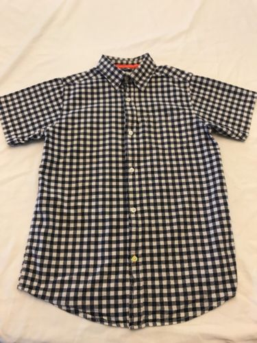 Boys Size Xl 14 Button Down Shirt By Childrens Place Blue Plaid AA