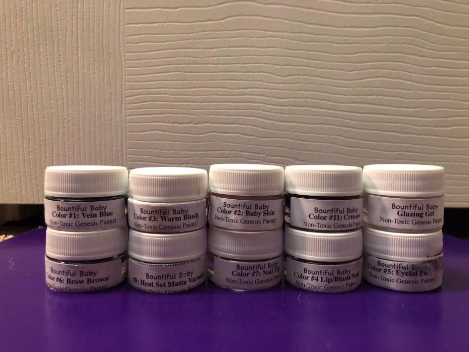 Set of 10 Bountiful Baby Heat Set Non-Toxic Genesis Reborn Paints Slightly Used