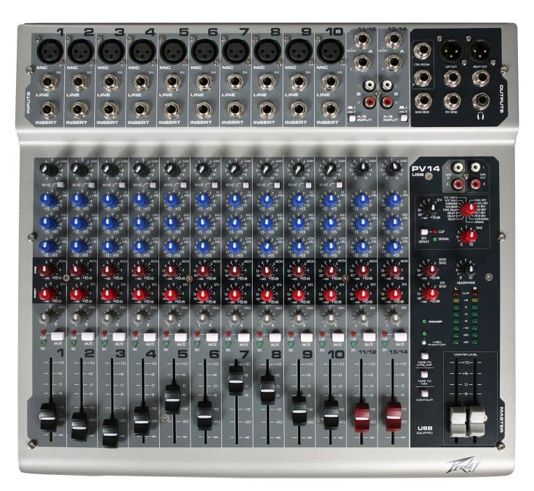 Peavey PV1414 channel analog mixer MINT