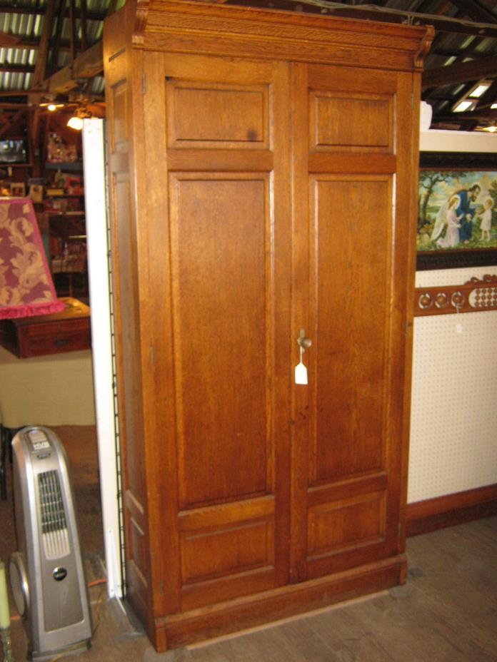 Oak Office 2 Door Cabinet