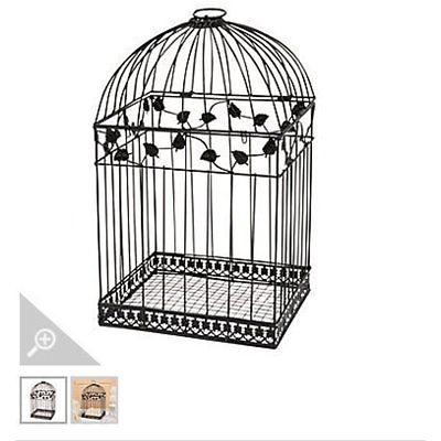Black Metal Wedding Bird Cage Card Holder Beautiful Reception Piece