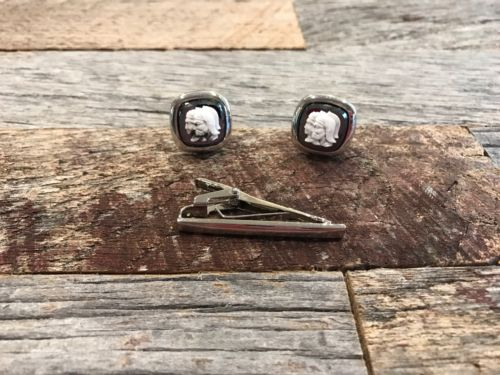 Antique Swank So Cufflinks With Tie Clip