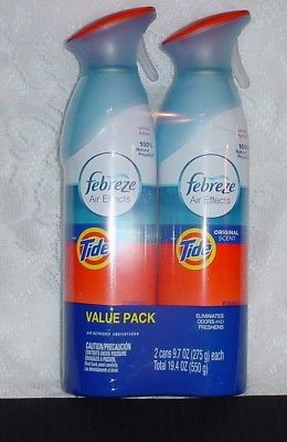 2 CANS FEBREZE AIR EFFECTS SPRAY TIDE ORIGINAL SCENT *NEW*