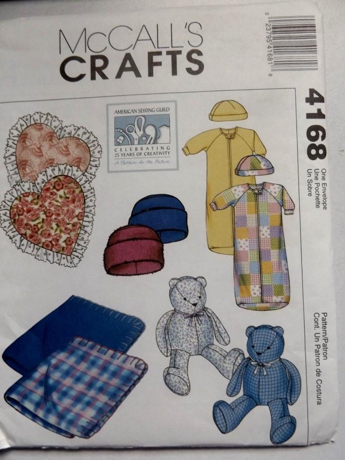 2003 ITEMS FOR BABY PATTERN~McCALL'S CRAFTS  #4168~INFANT SIZE
