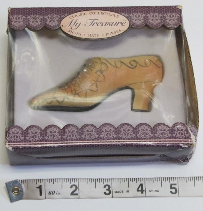 My Treasure Shoes Light Brown with Crystals NEW IN BOX