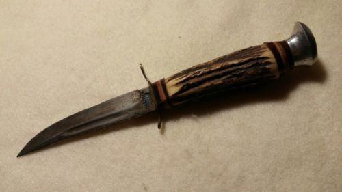 Vintage original EDGEBRAND 460 SOLINGEN GERMANY STAG HANDLE HUNTING KNIFE