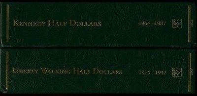 LIBERTY WALKING & KENNEDY HALF DOLLARS LITTLETON COIN ARCHIVAL ALBUM SET NEW