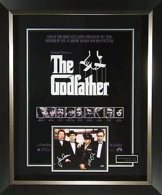 Godfather Signed Movie Poster Display Framed Al Pacino James Caan