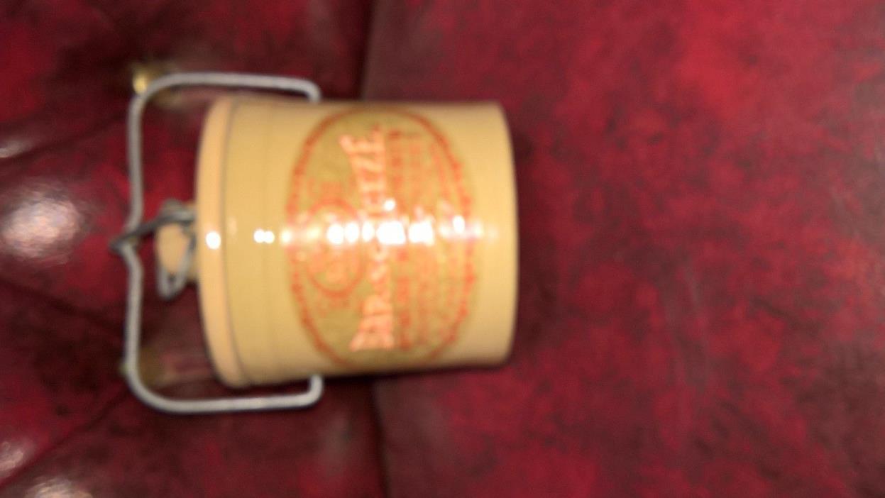 Vintage Win Schuler's Bar-Scheeze / Cheese Clamp Lid Crock with Lid, 5 1/2 in.