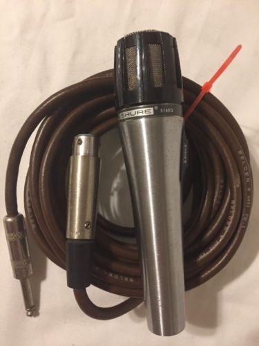 Vintage SHURE 516EQ Microphone Built-In Equalizer & 20' Belden/ Switchcraft Cord