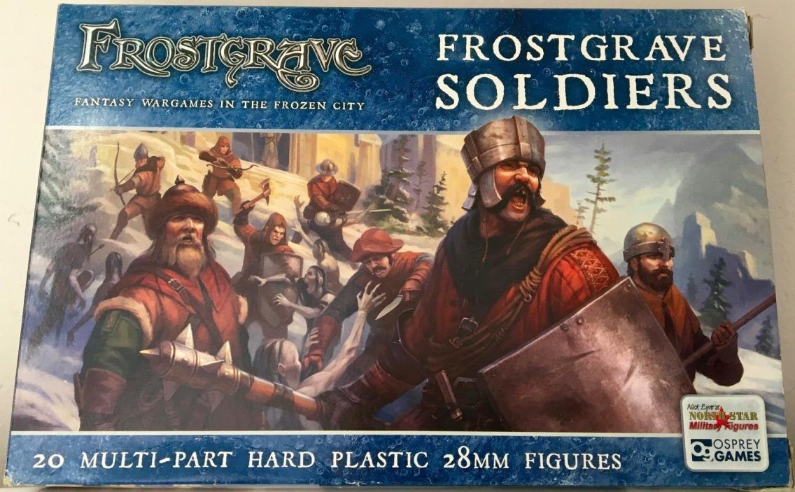 Frostgrave Soldiers 28mm New | One Sprue | 5 Miniatures | Osprey Northstar