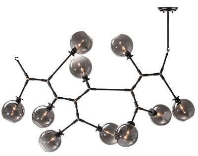 Atom 10 Pendant Lamp in Gray and Black [ID 3471594]