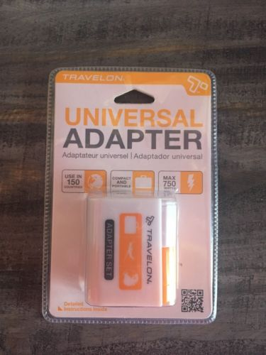 Travelon Universal Adapter Set  Plug Style 19508 Compact Portable Travel