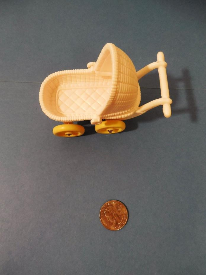Fisher Price Loving Family Dollhouse White & Yellow Baby Buggy