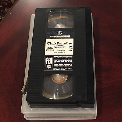 Club Paradise VCR VHS MOVIE Robin Williams Peter O'Toole Jimmy Cliff Twiggy