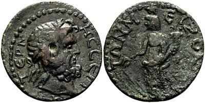 FORVM Termessos Major Pisidia AE30 Zeus / Tyche Holding Rudder and Cornucopia