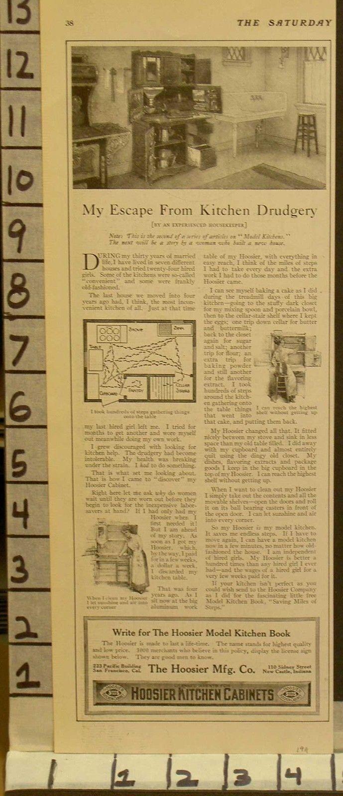 1911 HOOSIER KITCHEN CABINET HOME DESIGN LAYOUT HEH COOK HOUSE  2322523225